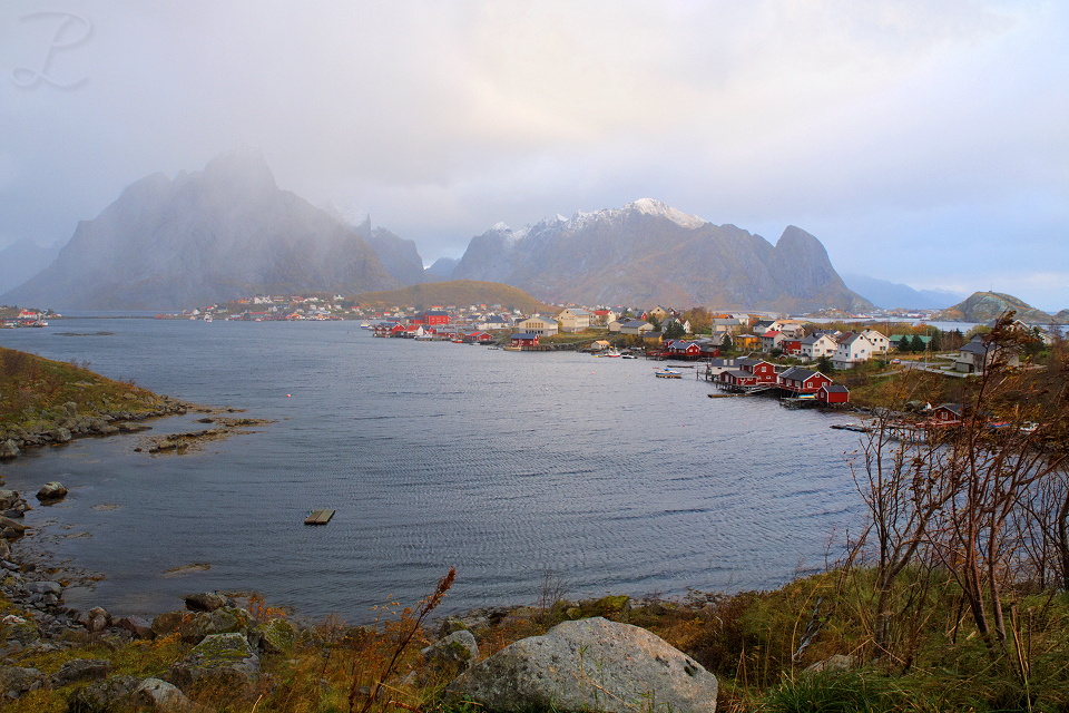 Picturesque Reine after a storm